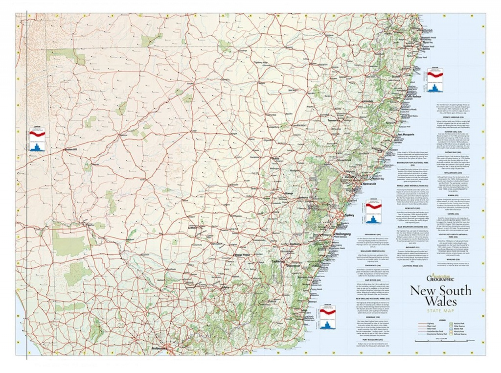 Nsw Map Poster - Australian Geographic - Printable Map Of Nsw