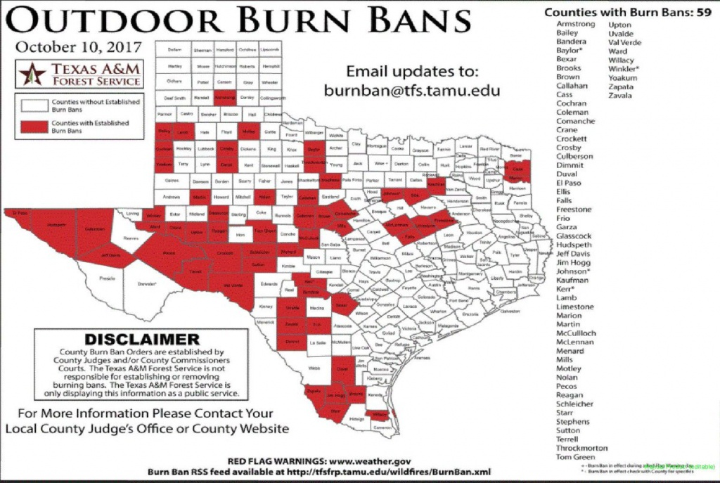 "Nws Shreveport On Twitter: ""texas Burn Bans In Effect. #txwx - Burn Ban Map Of Texas"
