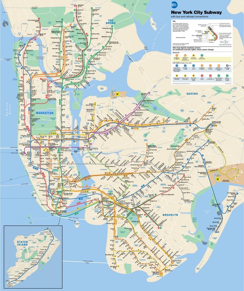 Ny Subway Map / Pdf Available | | New York | | Nyc Subway Map, Map - Printable Nyc Map Pdf