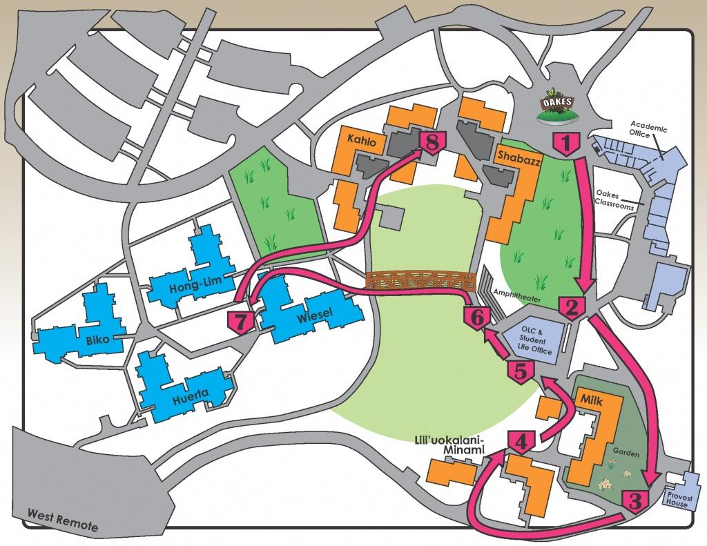 Oakes Self Guided Tour - University Of California Santa Cruz Campus Map