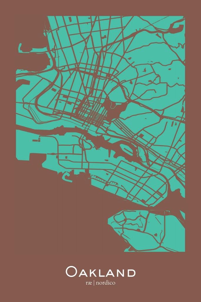Oakland, California Map Print | Maps | California Map, Map, Oakland - Oakland California Map