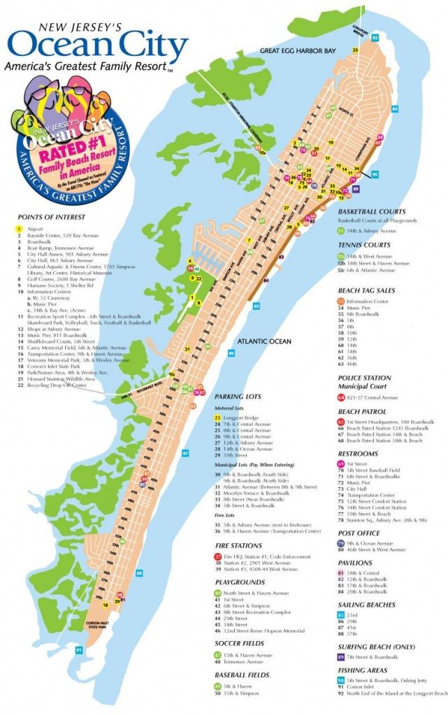 Ocean City Nj Street Map | Favorite Places & Spaces In 2019 | Ocean - Printable Street Map Ocean City Nj