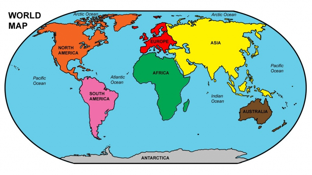 Ocean Map World - World Wide Maps - World Ocean Map Printable