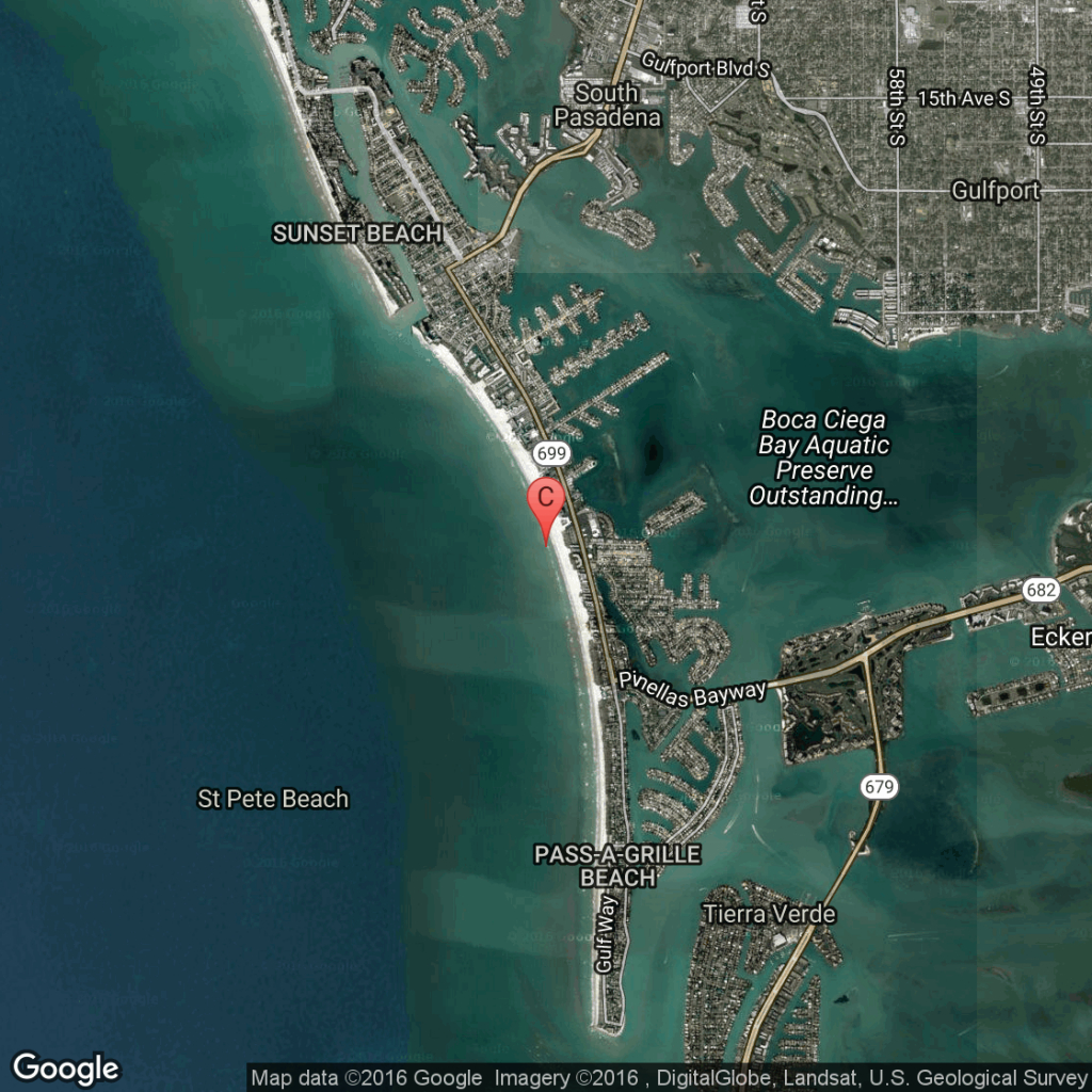 Oceanfront Hotels In St. Pete Beach, Florida | Usa Today - Google Maps St Pete Beach Florida