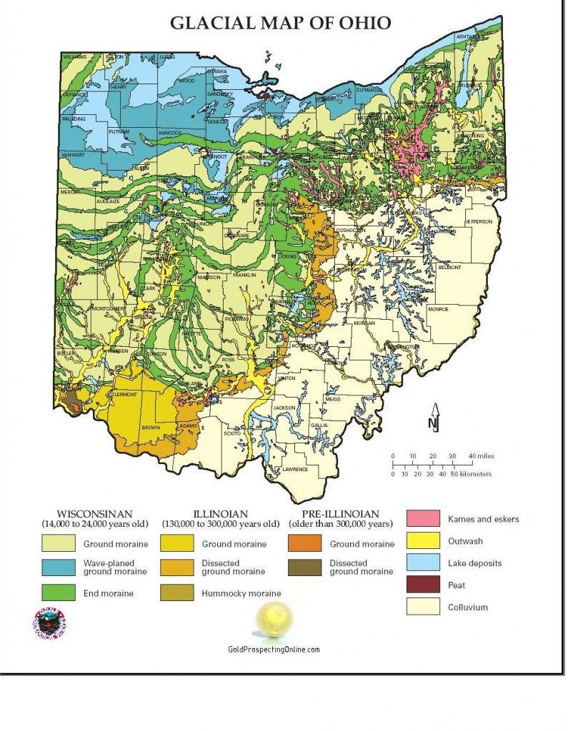 Ohio   Gold Prospecting Equipment,tips & Gold Maps - Gold Prospecting In Texas Map