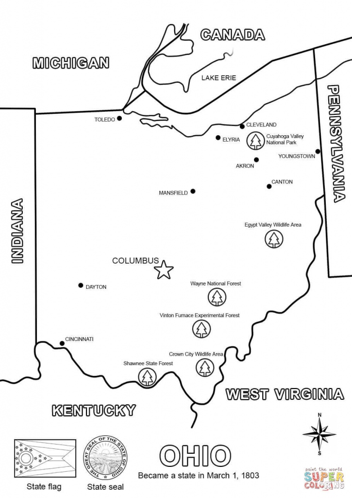 Ohio Map Coloring Page   Free Printable Coloring Pages - Printable Map Of Ohio