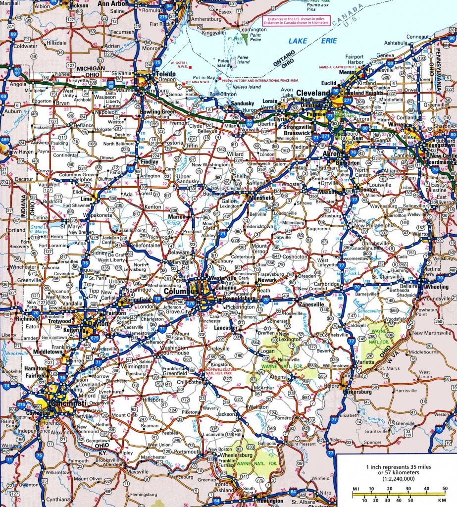 Ohio Road Map - Printable Road Maps