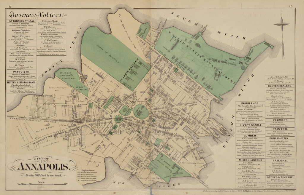 Okay, Really Cool Old Map. And, We All Love Maps. I Present To You - Printable Map Of Annapolis Md