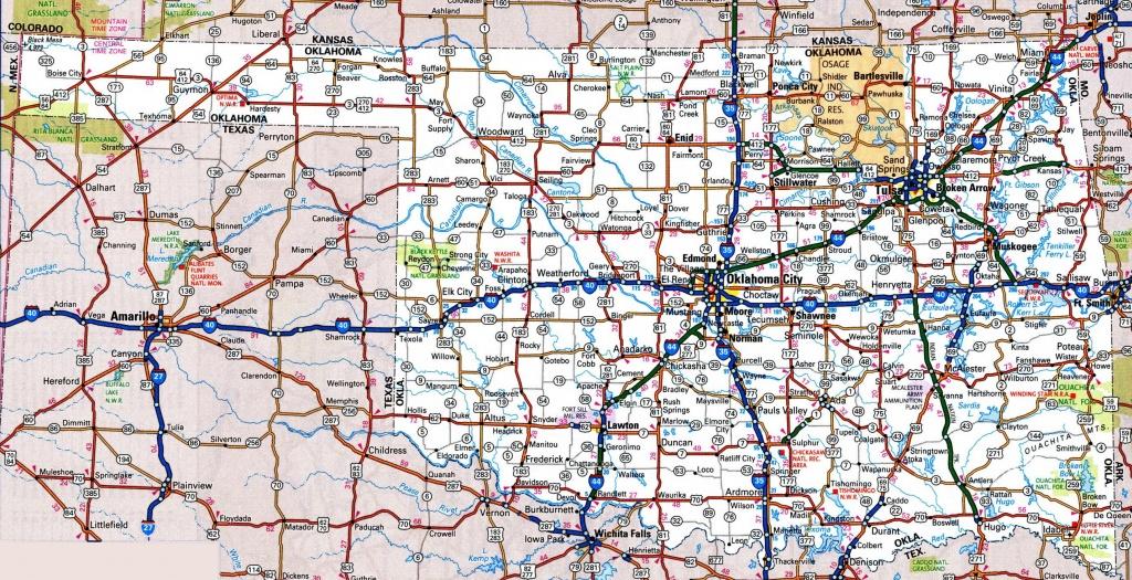 Oklahoma State Maps   Usa   Maps Of Oklahoma (Ok) - Oklahoma State Map Printable