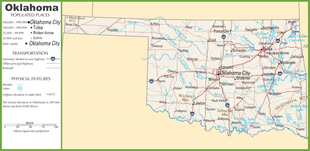 Oklahoma State Maps | Usa | Maps Of Oklahoma (Ok) - Printable Map Of Oklahoma