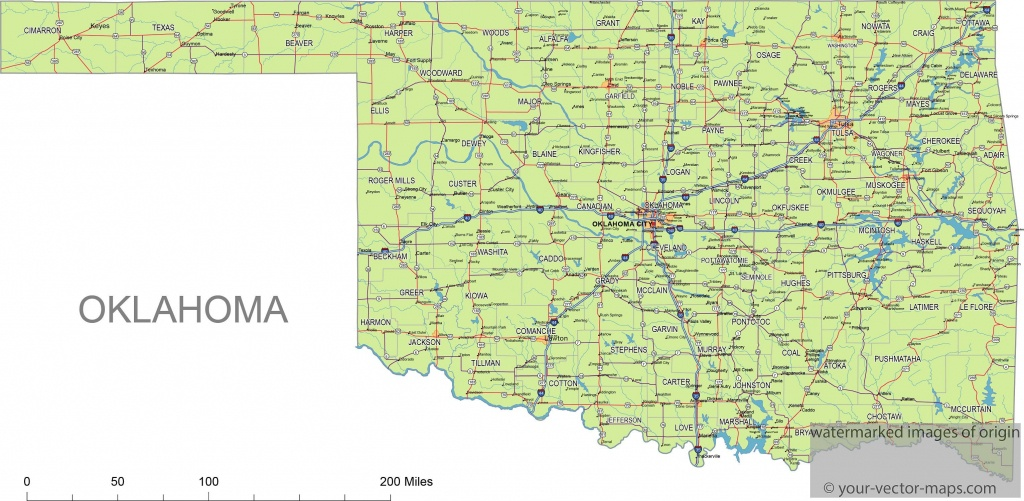 oklahoma state route network map oklahoma highways map cities of oklahoma state map printable Oklahoma State Map Printable