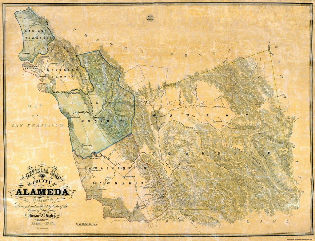 Old County Map - Alameda California - 1857 - Old California Map