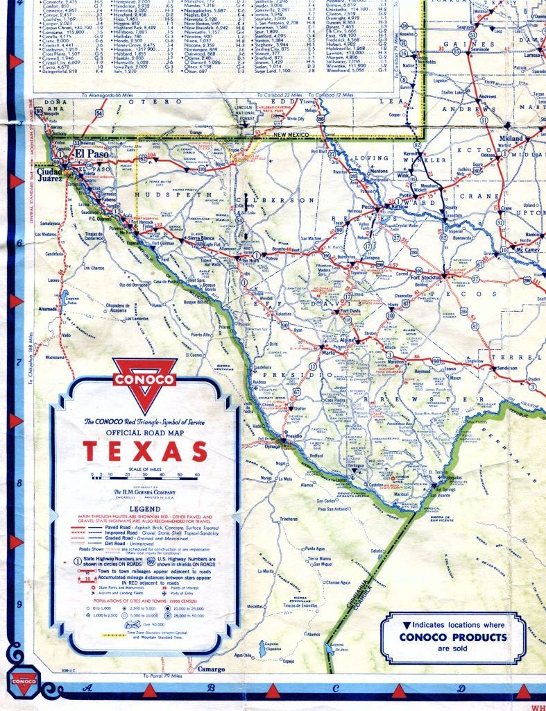 Old Highway Maps Of Texas - Texas Road Map Free
