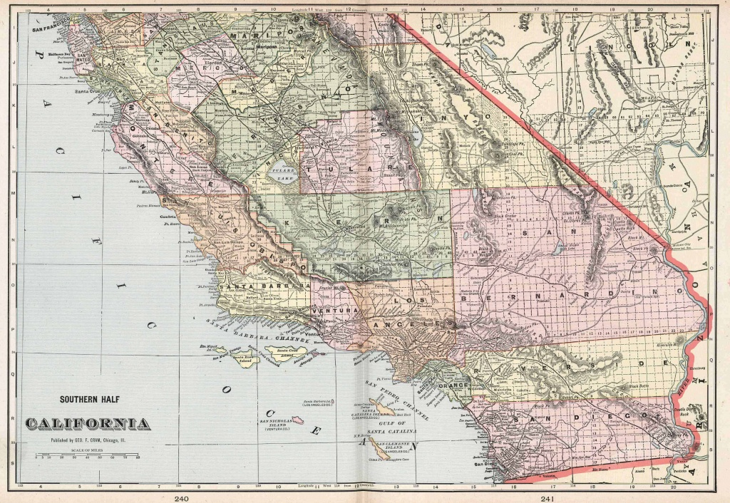 Old Historical City, County And State Maps Of California - Map Of Southeastern California