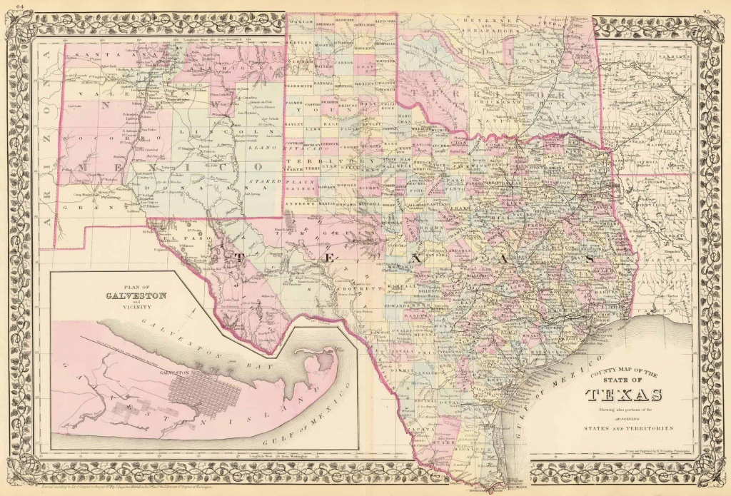 Old Historical City, County And State Maps Of Texas - Old Texas Maps For Sale