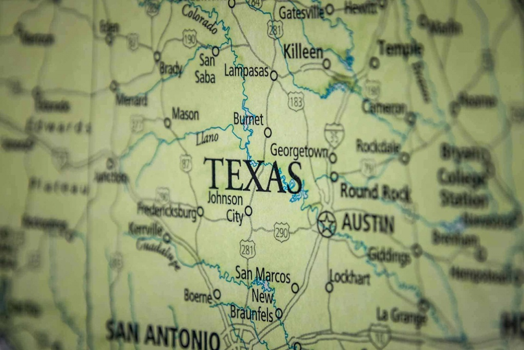 Old Historical City, County And State Maps Of Texas - Texas Road Map 2018