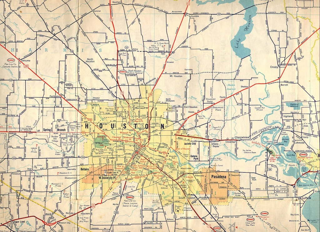 Old Houston Maps | Houston Past - Map Records Of Harris County Texas