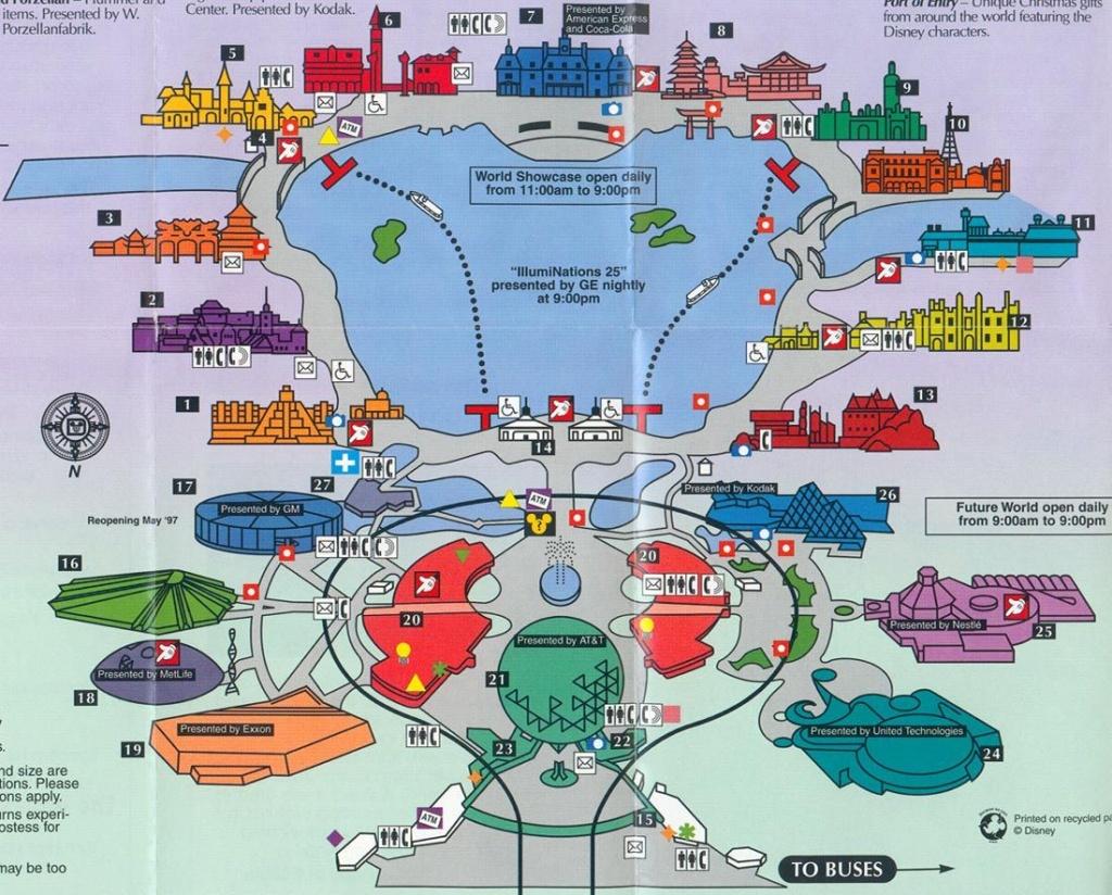 Old Map Of Epcot | Disney | Disney World Map, Epcot, Disneyland Map - Epcot Florida Map