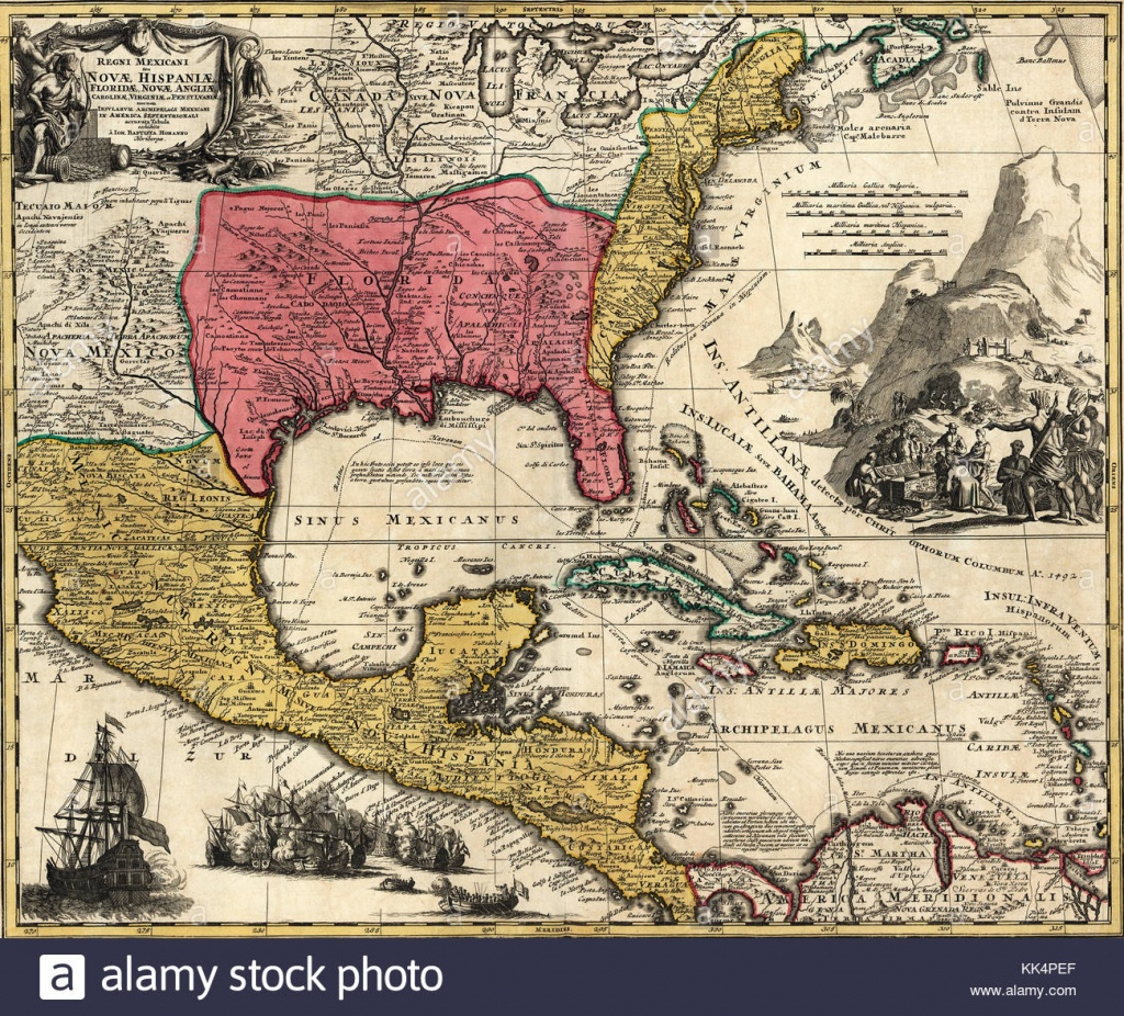 Old Map Of Florida Stock Photos & Old Map Of Florida Stock Images - Florida Old Map