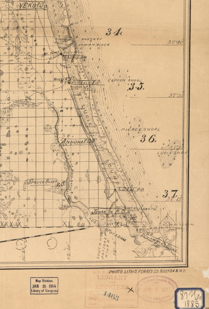 Old Maps | Jacqui Thurlow-Lippisch - Hutchinson Island Florida Map