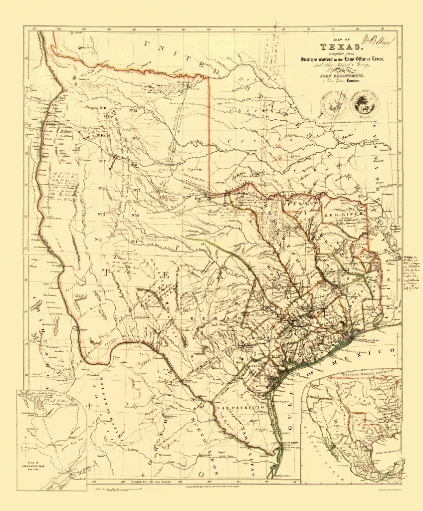 Old State Map - Republic Of Texas - Arrowsmith 1841 - Republic Of Texas Map