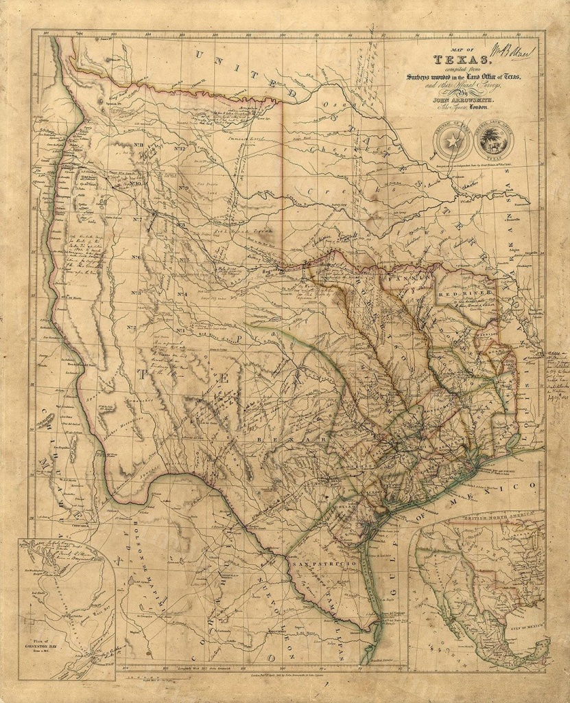 Old Texas Wall Map 1841 Historical Texas Map Antique Decorator Style - Vintage Texas Map Framed