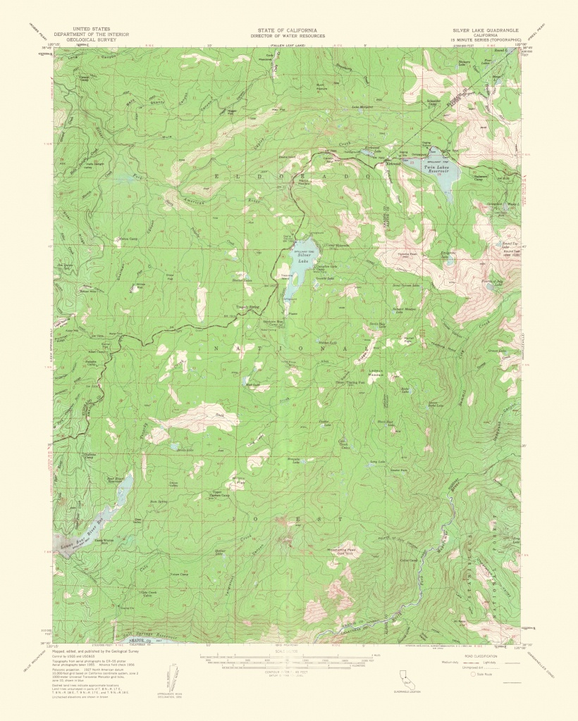 Old Topographical Map - Silver Lake California 1962 - Silver Lake California Map