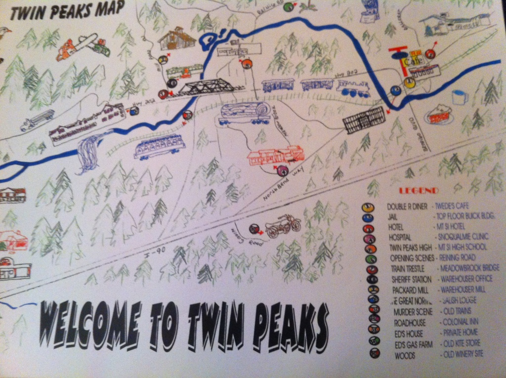 "One Chants Out Between Two Worlds"": Visiting Twin Peaks And Twin - Twin Peaks California Map"