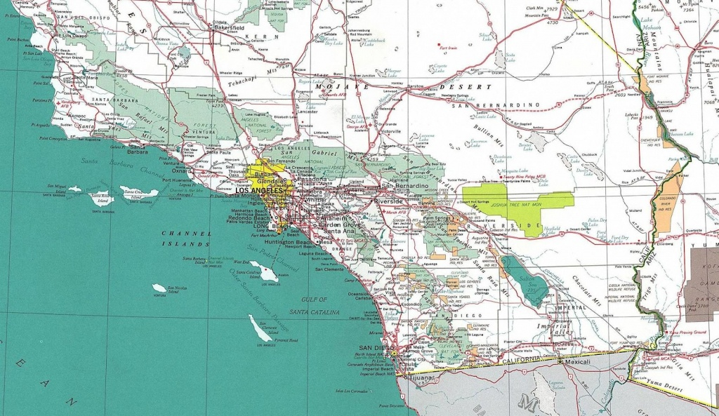Online Maps Southern California Road Map Within South - Touran - Road Map Of Southern California