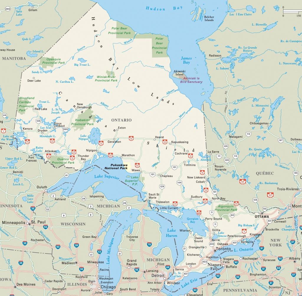 Ontario Highway Map - Printable Map Of Ontario