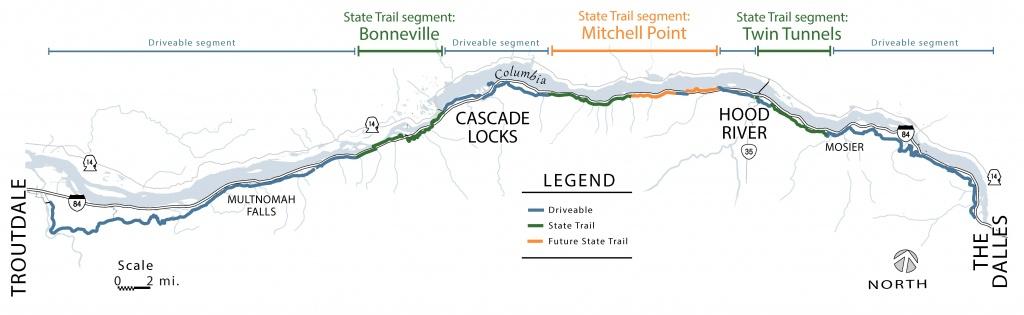 Oregon Department Of Transportation : Historic Columbia River - Printable Map Of The Oregon Trail