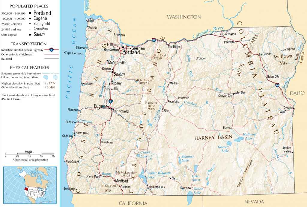 Oregon Map - Free Large Images | States | Oregon Map, Oregon - Oregon Road Map Printable