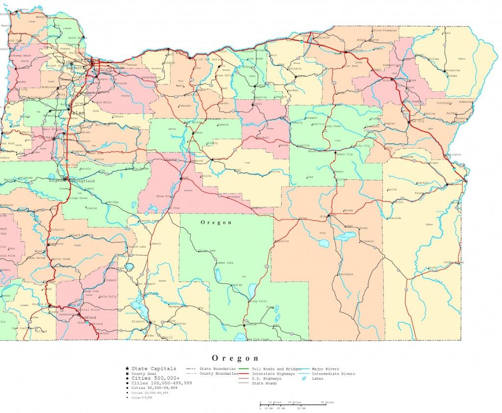 Oregon Printable Map - Printable Map Of The Oregon Trail