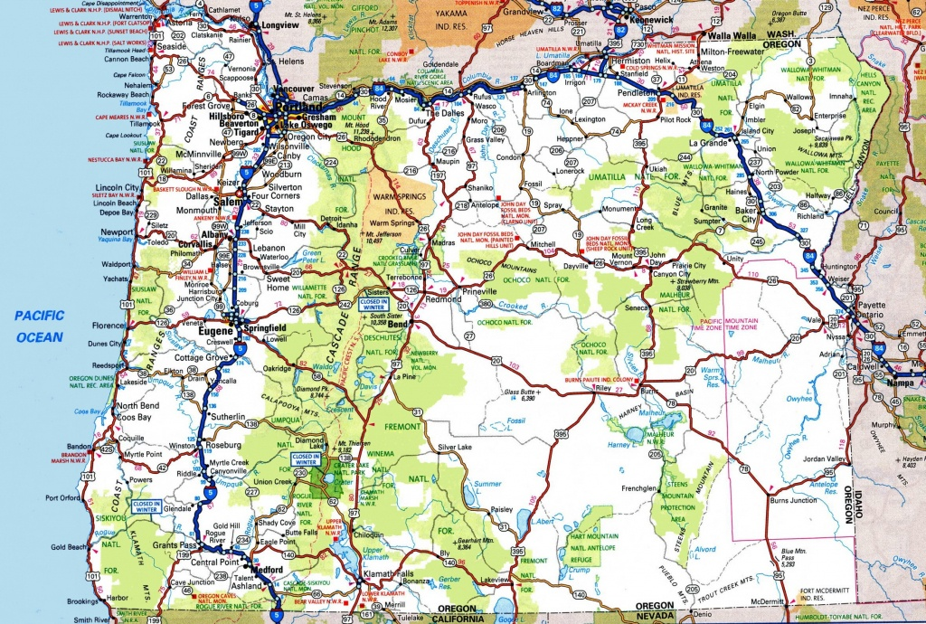 Oregon Road Map - Road Map Of Southern Oregon And Northern California