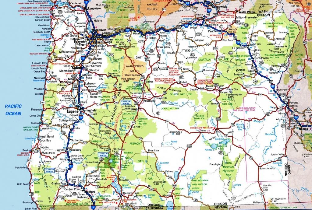 Oregon Road Map - Road Map Oregon California