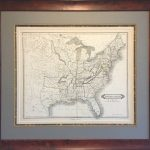 Original Map Of The Republic Of Texas And The United States   Texas Map Framed Art
