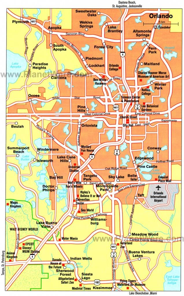 Orlando Cities Map And Travel Information   Download Free Orlando - Road Map To Orlando Florida