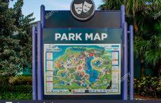 Orlando, Florida. April 7, 2019. Park Map Sign At Seaworld In   Sea World Florida Map