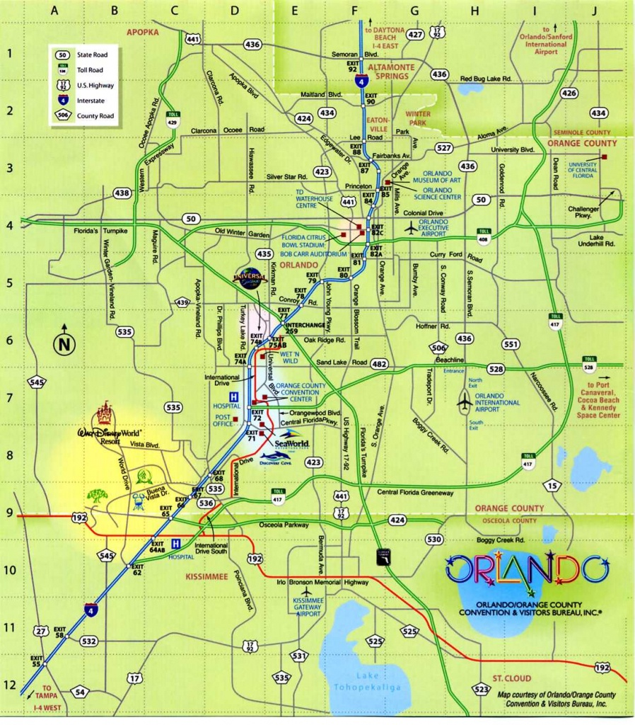 Orlando Florida City Map - Orlando Florida • Mappery - Orlando Florida Map