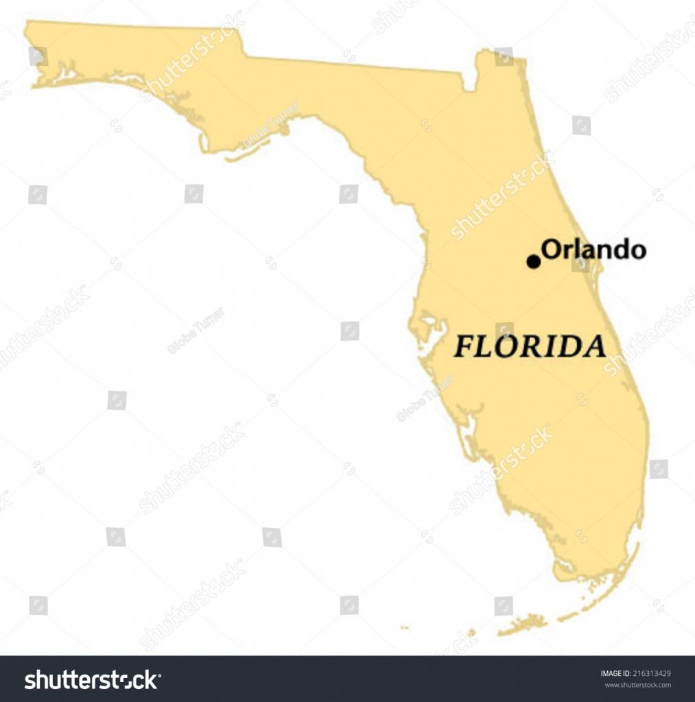 Orlando Florida Locate Map Stock Vector (Royalty Free) 216313429 - Orlando Florida Map