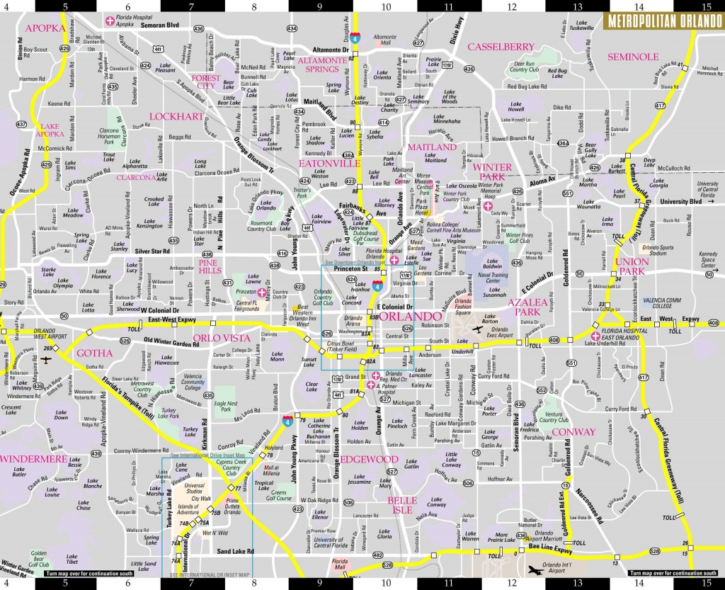 Orlando Florida Map - Map Of Orlando Florida Area (Florida - Usa) - Map Of Orlando Florida Area