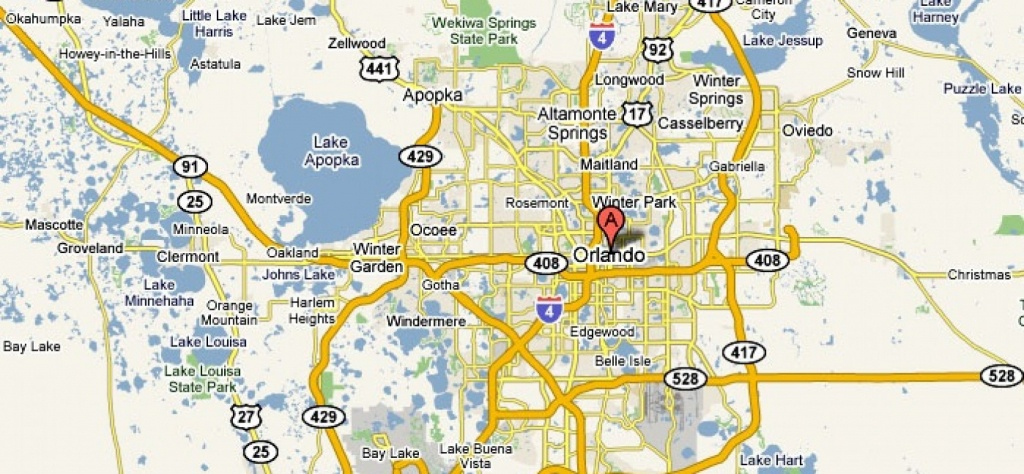 Orlando, Florida – Usa   Travel Featured - Road Map To Orlando - Road Map Of Orlando Florida