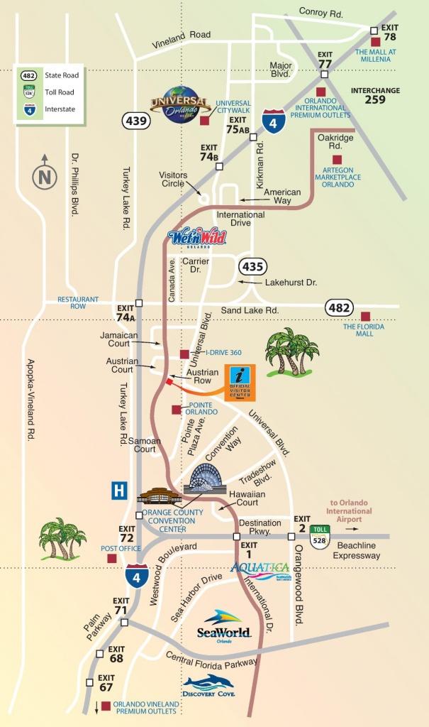 Orlando International Drive Area Map - Printable Map Of Orlando