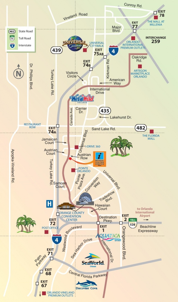 Orlando International Drive Area Map - Road Map Of Orlando Florida