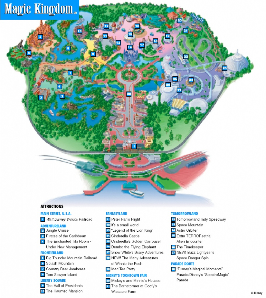 Orlando Magic Kingdom Map - Design Templates - Map Of Magic Kingdom Orlando Florida