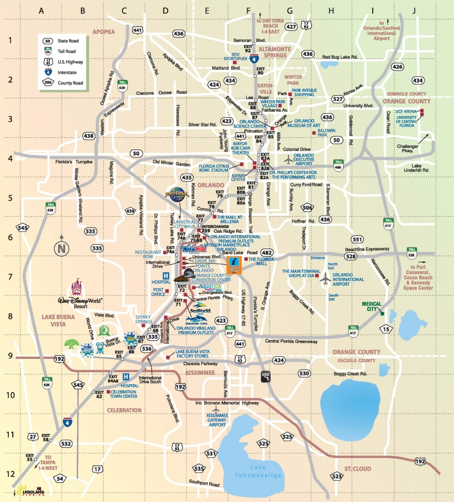 Orlando Maps | Florida, U.s. | Maps Of Orlando - Printable Map Of Orlando