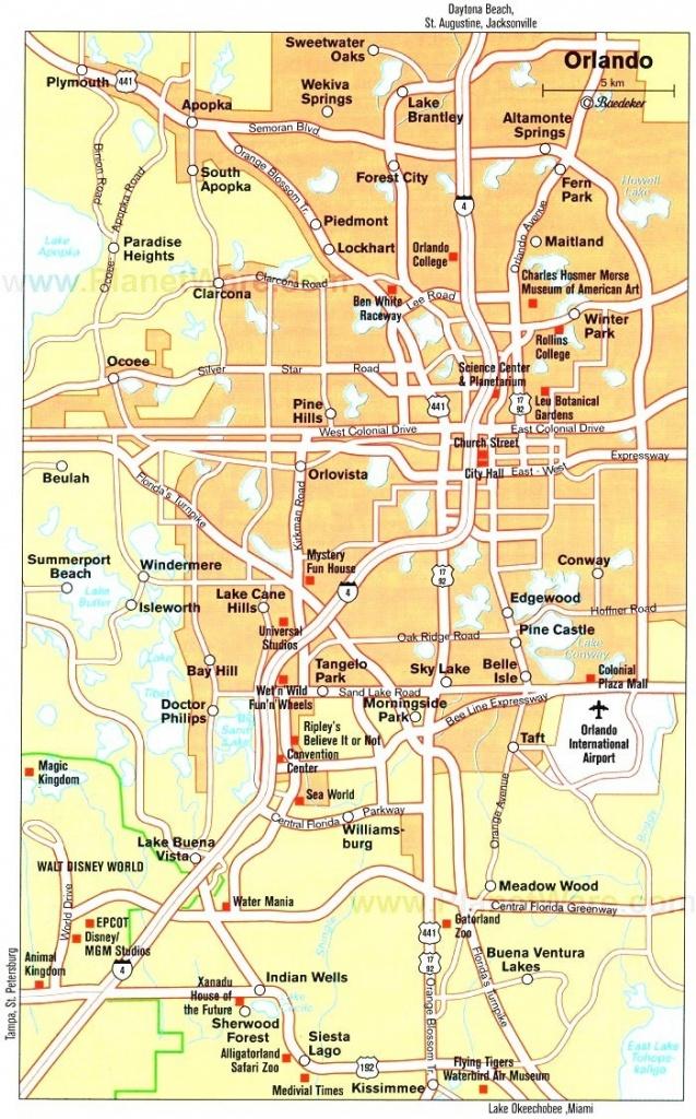 Orlando Maps   Florida, U.s.   Maps Of Orlando - Road Map To Orlando - Road Map Of Orlando Florida