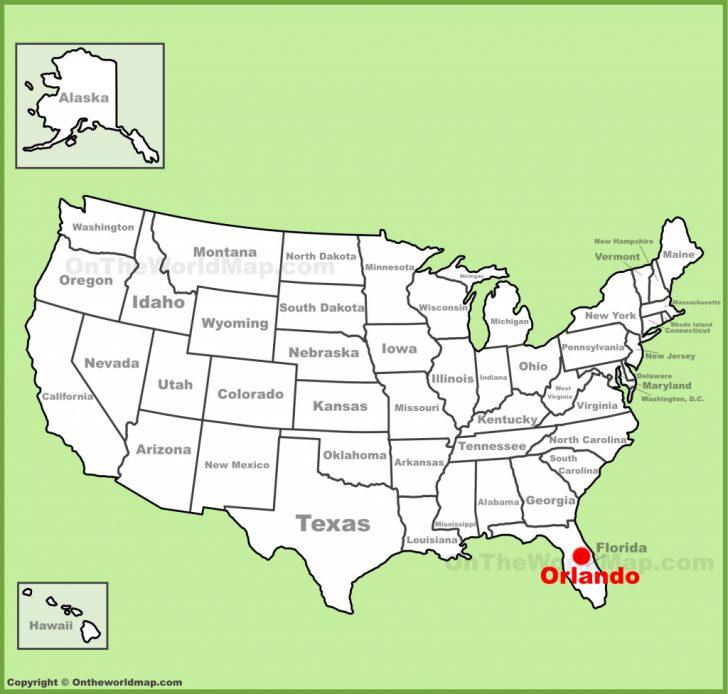 Tourist Map Of Orlando Florida
