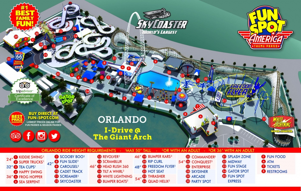 Orlando Park Map | Theme Park Map - Map Of Amusement Parks In Florida