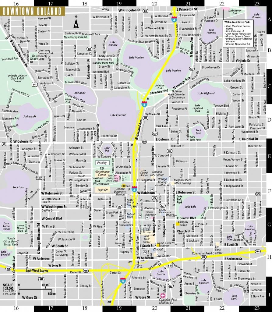 Orlando Street Map - Street Map Of Orlando (Florida - Usa) - Detailed Map Of Orlando Florida